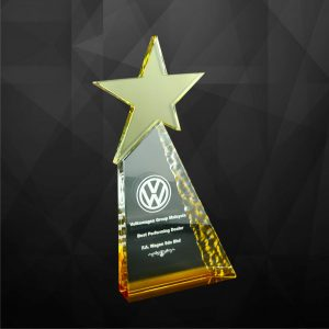 Crystal Plaques CR9092 – Exclusive Crystal Star Award