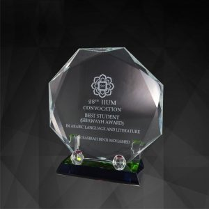 Crystal Plaques CR9106 – Exclusive Octagonal Crystal Plaques
