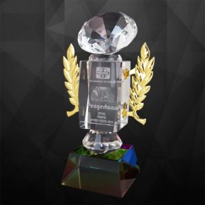 Crystal Trophies CR9110 – Exclusive Crystal Diamond Trophy