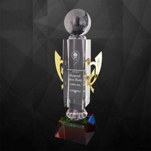 Crystal Trophies CR9114 – Exclusive Crystal Globe Trophy