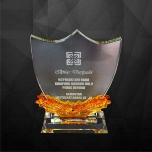 Crystal Plaques CR9123 – Exclusive Shield Crystal Award
