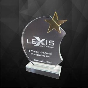Crystal Plaques CR9126 – Exclusive Crystal Star Award