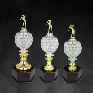 Crystal Trophies CR9141 – Exclusive Crystal Golf Trophy