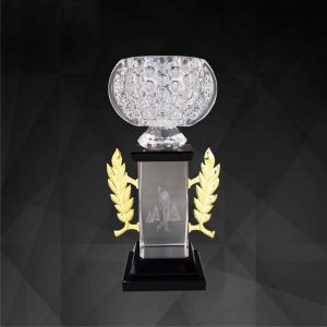 Crystal Trophies CR9143 – Exclusive Crystal Bowl Trophy