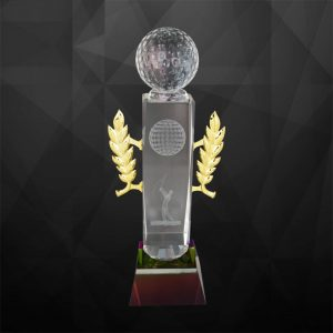 Crystal Trophies CR9145 – Exclusive Crystal Golf Trophy