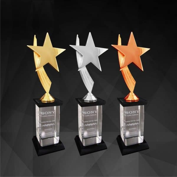 Plastic Trophies CR9146 – Exclusive Star Awards (GOLD, SILVER, BRONZE)