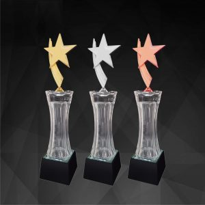 Crystal Trophies CR9155 – Exclusive Crystal Star Trophy (GOLD, SILVER, BRONZE)