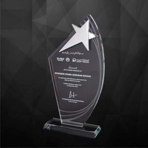 Crystal Plaques CR9166 – Exclusive Crystal Star Plaques