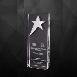 Crystal Plaques CR9172 – Exclusive Crystal Star Plaques