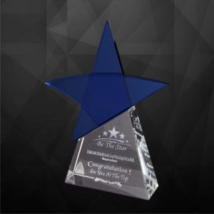 Crystal Plaques CR9173 – Exclusive Crystal Star Plaques