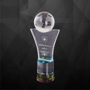 Crystal Trophies CR9176 – Exclusive Crystal Globe Trophy