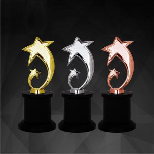Crystal Trophies CR9194 – Exclusive Star Awards (GOLD, SILVER, BRONZE)