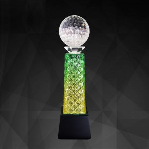 Crystal Trophies CR9202 – Exclusive Crystal Golf Trophy