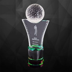 Crystal Trophies CR9209 – Exclusive Crystal Golf Trophy