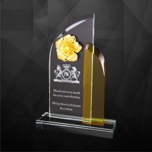 Crystal Plaques CR9214 – Exclusive Crystal Flower Plaques
