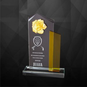 Crystal Plaques CR9215 – Exclusive Crystal Flower Plaques