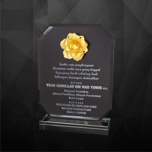 Crystal Plaques CR9219 – Exclusive Crystal Flower Plaques