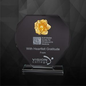 Crystal Plaques CR9220 – Exclusive Crystal Flower Plaques