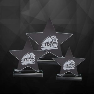 Crystal Plaques CR9223 – Exclusive Crystal Star Plaques