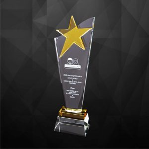 Crystal Plaques CR9225 – Exclusive Crystal Star Plaques
