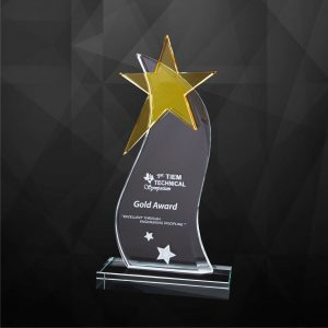 Crystal Plaques CR9226 – Exclusive Crystal Star Plaques