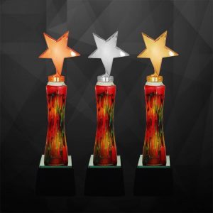 Plastic Trophies CR9236 – Exclusive Star Awards (GOLD, SILVER, BRONZE)