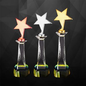 Plastic Trophies CR9237 – Exclusive Star Awards (GOLD, SILVER, BRONZE)