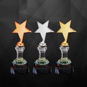 Plastic Trophies CR9238 – Exclusive Star Awards (GOLD, SILVER, BRONZE)