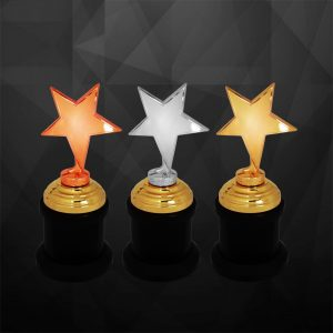 Plastic Trophies CR9239 – Exclusive Star Awards (GOLD, SILVER, BRONZE)