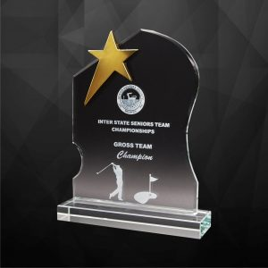 Crystal Plaques CR9250 – Exclusive Crystal Star Plaques