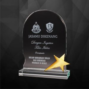 Crystal Plaques CR9251 – Exclusive Crystal Star Plaques