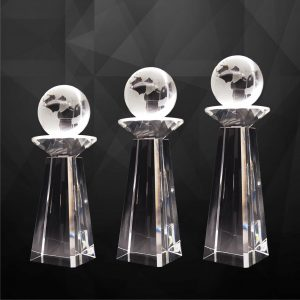 Crystal Plaques CR9256 – Exclusive Crystal Globe Plaques