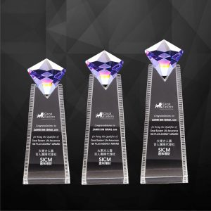 Crystal Plaques CR9257 – Exclusive Crystal Diamond Plaques