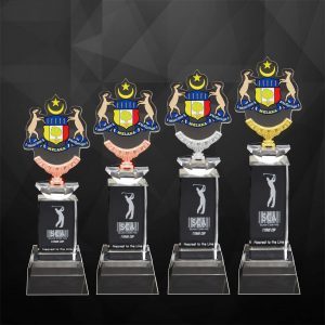 Crystal Trophies CR9264 – Exclusive Crystal Trophy With Acrylic Medal