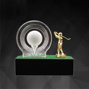 Crystal Plaques CR9278 – Exclusive Crystal Golf Awards