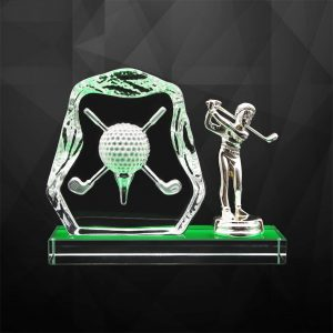Crystal Plaques CR9279 – Exclusive Crystal Golf Awards