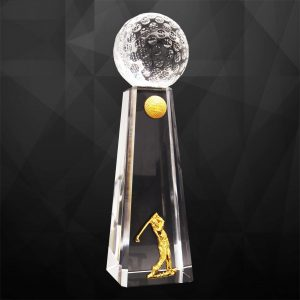 Crystal Trophies CR9281 – Exclusive Crystal Golf Trophy