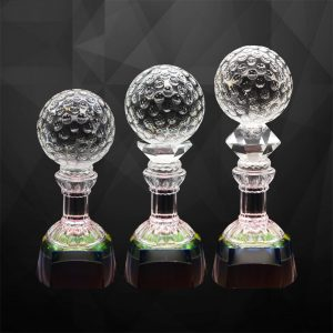 Crystal Trophies CR9282 – Exclusive Crystal Golf Trophy