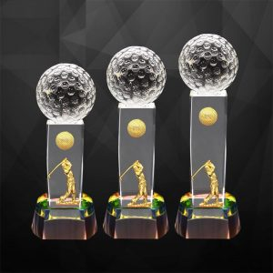 Crystal Trophies CR9283 – Exclusive Crystal Golf Trophy