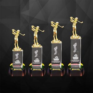 Crystal Trophies CR9284 – Exclusive Crystal Golf Trophy