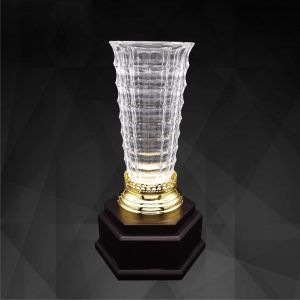 Crystal Trophies CR9286 – Exclusive Crystal Vase Trophy
