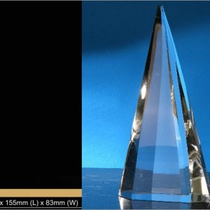 Crystal Trophies CR9300 – Exclusive Pyramid Crystal Trophy