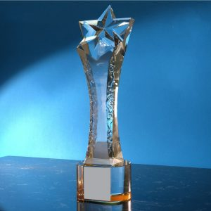 Crystal Trophies CR9307 – Exclusive Star Crystal Trophy