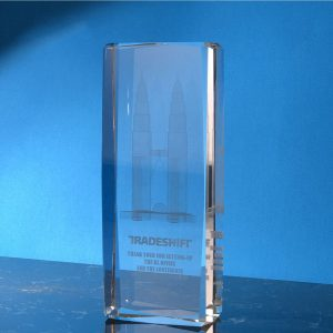 Crystal Trophies CR9317 – Exclusive Rectangular Crystal Trophy