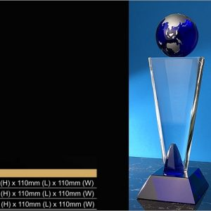 Crystal Trophies CR9320 – Exclusive Globe Crystal Trophy