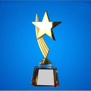 Crystal Plaques CR9326 – Exclusive Star Crystal Awards