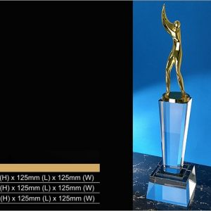 Crystal Trophies CR9343 – Exclusive Golf Crystal Trophy