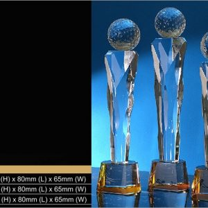 Crystal Trophies CR9345 – Exclusive Golf Crystal Trophy