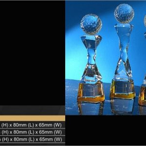 Crystal Trophies CR9346 – Exclusive Golf Crystal Trophy