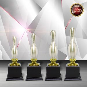 Silver Trophies EXWS6032 – Exclusive White Silver Bowling Trophy